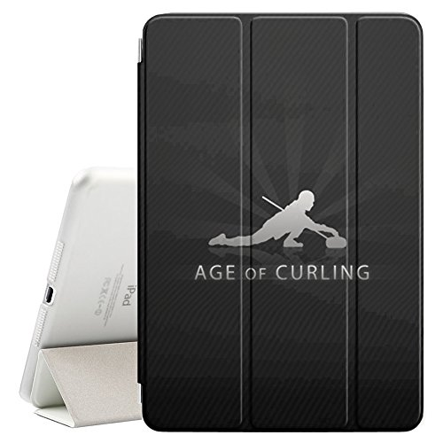 STPlus Curling Ice Winter Sports Smart Cover With Back Case + Auto Sleep/Wake Funtion + Stand for Apple iPad Air 2