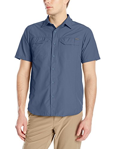 Columbia Silver Ridge-Camicia Maniche Corte Uomo, Uomo, Silver Ridge Homme, zinco, M