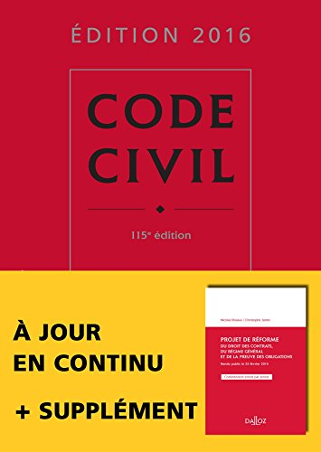 Code civil 2016 - 115e d.