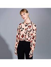 75fbe0654c AIBAB Camicia di Seta Vintage Abbigliamento da Donna in Tessuto 100% Seta  Maglia A Maniche