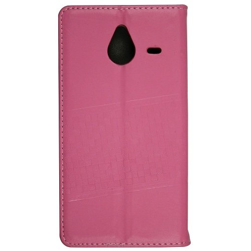 Casotec Premium Kickstand PU Leather Wallet with Invisible Magnet Closure Flip Case Cover for Microsoft Lumia 640 XL – Pink