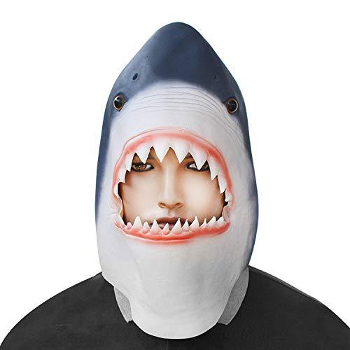 JIBO Horror Megalodon Halloween Maske Latex Kopf Gesetzt Cocktail Party Party Shark Maske Dekoration Zubehör