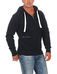 265e9606e091 Happy Clothing Sweat-Shirt à Capuche pour Homme avec Zip
