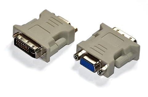 DVI Adapter (DVI zu VGA) , 24 + 5 Pins DVI-I , Konverter für Digital auf Analog , CM3-003