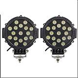 GHC LED light, SUV Driving Lamp, Round LED lavoro luce 4x4 Spot Flood Beam per fuoristrada ATV trattore 2pcs 7 pollici 51W (Edition : Spot beam)