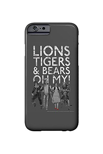 The Wizard of Oz - Lions Tigers and Bears (iPhone 6 Cell Phone Case, Slim Barely (Wizard Of Oz The Lion)