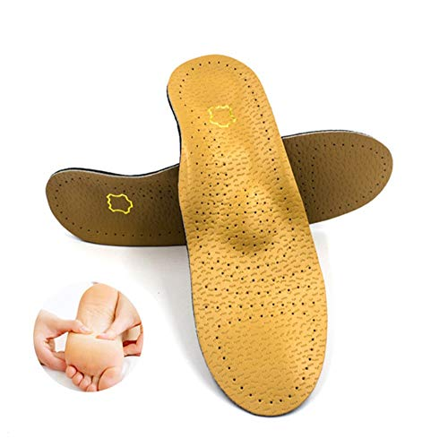 Deo-Einlegesohle, orthopädisches Fußmassagegerät aus hochwertigem Latex - Hochgewölbtes orthopädisches Polster, das die Gesundheit des OX-Beins korrigiert - Lindert Fußschmerzen - Unisex (2 Paare) - Sport 2.0 Perforiertes Leder