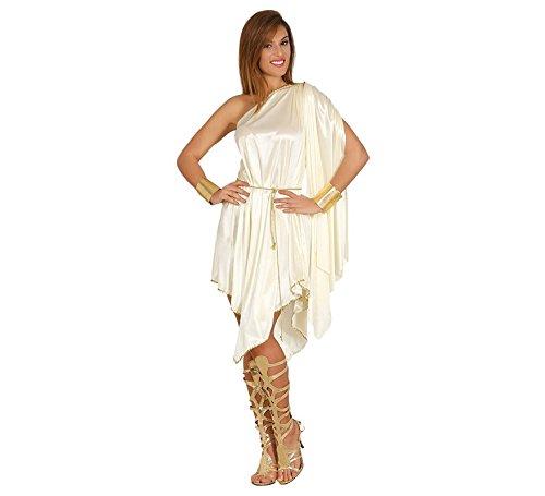 Aphrodite Kostüm Zubehör - Griechische Göttin Kostüm für Damen Olympisches Kleid Sexy Griechin Antike Gr. M-L, Größe:L
