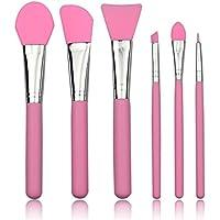 6pcs kit de cepillo de maquillaje de silicona mascarilla facial pinceles de sombra de ojos kit