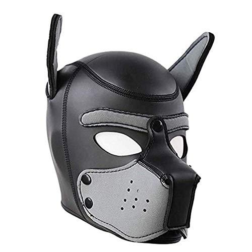 Kostüm Benutzerdefinierte Tier - Bnmgh Neopren Vollmaske Hundehaube Benutzerdefinierte Tier Helm Roman Kostüm Hundehaube Für Rollenspiel Cosplay Männlich Weiblich