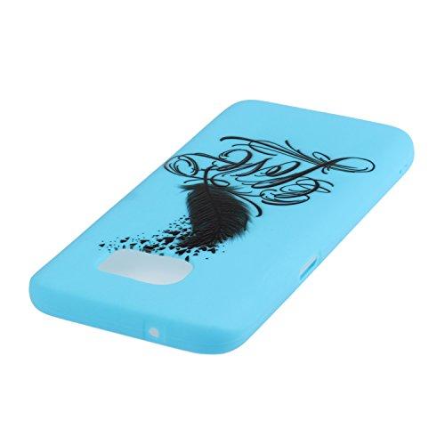 Voguecase® für Apple iPhone SE 5 5S 5G hülle, Schutzhülle / Case / Cover / Hülle / TPU Gel Skin (Gelb/Lila Traumfänger) + Gratis Universal Eingabestift Blau/Love Feder 01