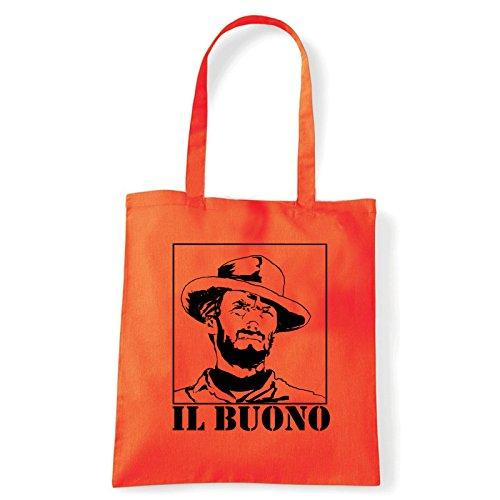 Art T-shirt, Borsa Shoulder eastwood-il-buono Arancio