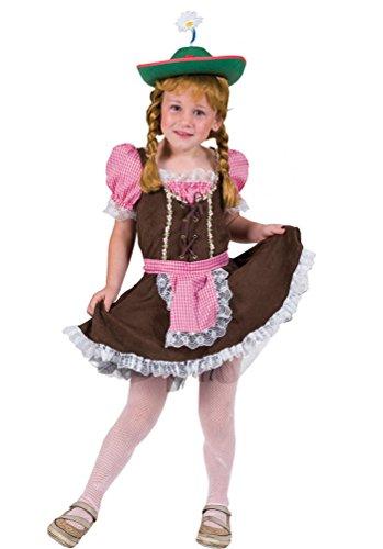 Karneval-Klamotten Kostüm Dirndl Maria Mädchen Oktoberfest Trachten-Kleid Dirndl kurz Bayern-Kleid Tirolerin Mädchenkostüm 116 (Dirndl Kostüm Mädchen)