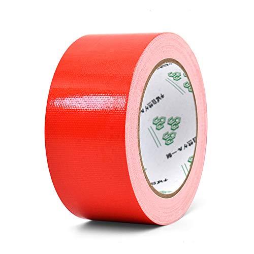 ADSIKOOJF 10m Farbe Gewebeband Gewebeklebeband Teppichboden wasserdichte Bänder Hochviskoses Klebeband Multicolor DIY Decoration China Red