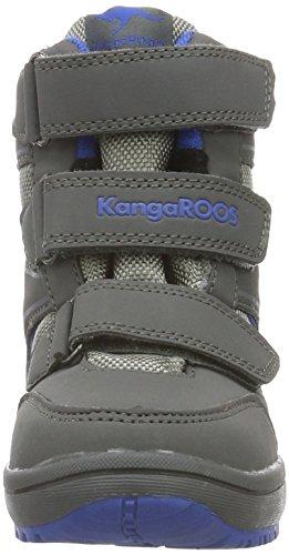 KangaROOS Rockil, Bottines à doublure froide mixte enfant Gris - Grau (Dk Grey/Royal Blue 245)