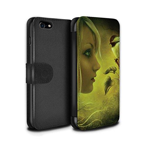 Officiel Elena Dudina Coque/Etui/Housse Cuir PU Case/Cover pour Apple iPhone 8 / Pack 18pcs Design / Les Oiseaux Collection Confiance