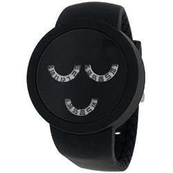 starpy VSTA _ 555d-Watch, Black Silicone Strap