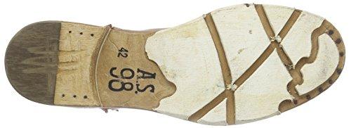A.S.98 437203, Bottes Combat de hauteur moyenne, non doublées homme Marron - Marron (Cuir)