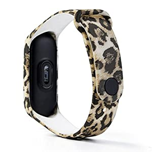 Zolimx New Fashion Doll Camouflage Pattern TPU Smart Fitness Watch Bracelet Strap Xiaomi Mi Band 3 Smartwatch (C)