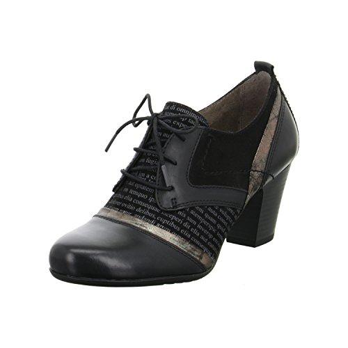 JANA Damen Schnürschuh 8-23300-098 black , Damen Größen:40.5;Farben:schwarz