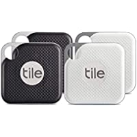 Tile Pro with Replaceable Battery - Black/White, Pack of 4 (2 x Black, 2 x White)