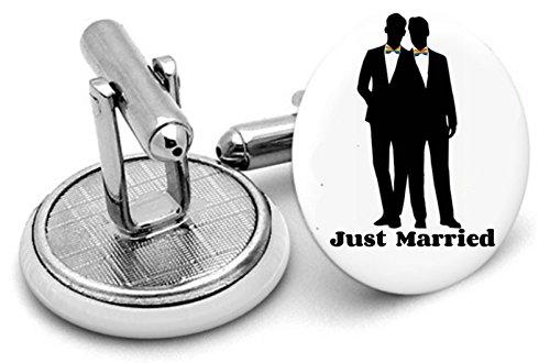 Mr et Mr Gay Mariage Boutons de manchette - Gay Cadeau de mariage - Cadeau de Partenariat Civil - Groomsmen Cadeau