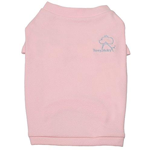 TONY HOBY Uni Hund Shirts Hund T-Shirts Haustier Sommer Kleidung 100% Weiche Baumwolle für Kleine Haustiere Hunde, XS(2.2-4lbs), Rose -