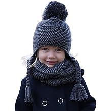 Hilltop 100% cotone - Set invernale bambini - Set composto da sciarpa  tubolare e berretto f7c8e8fbd978
