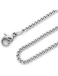 RUBY-Collar de acero inoxidable para hombre mujer Grosor 2mm ENVIO DESDE ESPAÑA (51cm)