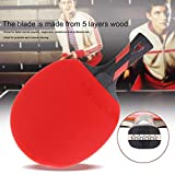 Yaoaomon Reiz 5 Stars Table Tennis Racket Ping Pong Paddle Match Training Racket red & Black