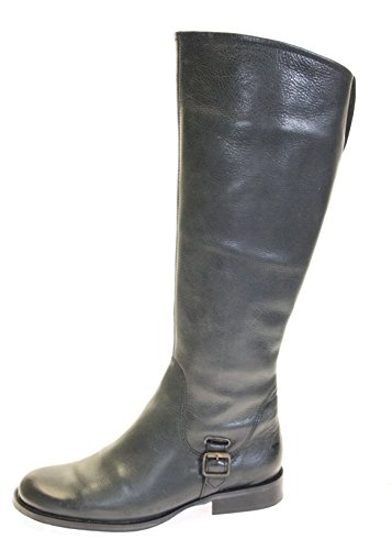 Stiefel Damenschuhe ECHT LEDER Farbe Schwarz mit seitlichem Reißverschluss Schwarz