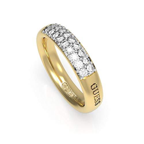 Guess Damen Ringe aus Edelstahl mit Zirkonia Ringgröße 56 (17.8)