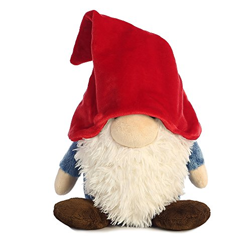 Aurora World Pointy gorro peluche de gnomo (Tamaño Mediano), color rojo/blanco/azul/marrón