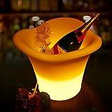 lili lili 7 Farbe LED 5L wasserdichte Kunststoff LED Eiskübel Farbe Bars Nachtclubs LED Leuchten Champagner Bier Eimer Bars Nacht Party