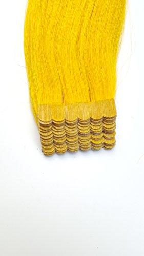 silmei 5 135,9 cm Ruban adhésif de haute qualité Remy extensions de cheveux humains _ 20 Lot de 50 g, 60 g Poids soyeux droite Femmes Beauté Salon Style Design