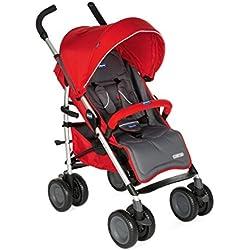 Chicco MultiWay2 Silla de paseo todoterreno con ruedas grandes y suspensión, color rojo