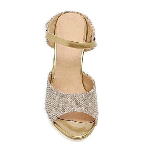 L@YC Frauen High Heel Stilettos Sandalen Peep Toe G¨¹rtelschnalle Fr¨¹hling und Sommer Sandalen Yellow