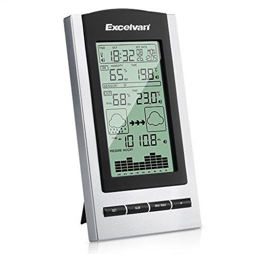 Excelvan Wireless Digital Indoor & Outdoor Stazione Meteo monitor con sensori barometro e umidità con (Stazione Stazione Meteo)