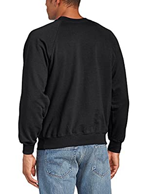 Fruit of the Loom Men's Raglan Crew Neck Long Sleeve Sweatshirt