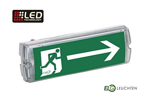 RZL-LED (3h)(7700) - Rettungszeichenleuchte, Notleuchte, Notausgangsleuchte, Fluchtwegleuchte 2,2W LED, 3 Std. Dauer-/Bereitschaftsschaltung, Schutzart IP 40