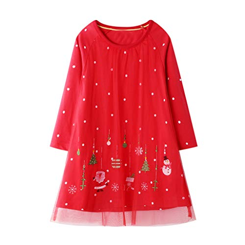 LEXUPE Baby Kleidung Set Mädchen Weihnachtsoutfit Baby Kleid Tütü Bodys Strampler Stirnband Beinwärmer Schuhe(Rot,4T) -
