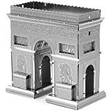 EKIND Corte láser 3D Building Metal Modelo Kit metálico Nano Puzzle Educación de bricolaje Montaje Juguete - Arco del Triunfo