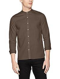 Nowadays Herren Freizeithemd Special Mini Collar Shirt