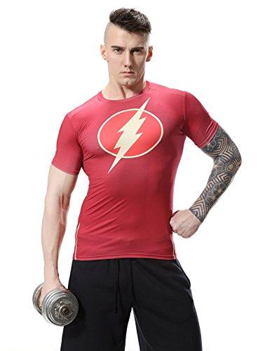 Cody Lundin uomini camicia Flash-uomo eroe sport esercizio Fitness compressione a maniche corte t-shirt (M)