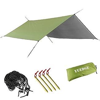 YUEDGE Lona Rainfly Portátil Ligero Impermeable Tarpaulin Cubierta de la Lluvia Tienda de Campaña Parasol Refugio Para Camping Senderismo Playa Picnic