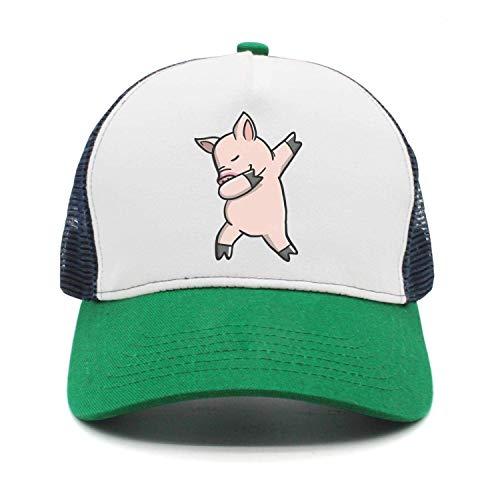 Xukmefat Men Women Pig Dabbing Denim Fabric Baseball Hat Adjustable Street  Rapper Hat eccf347e767e