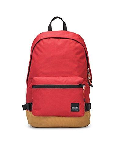 Pacsafe Slingsafe LX400Diebstahlschutz Rucksack mit Abnehmbarer Tasche, Chili red (rot) - 688334026042