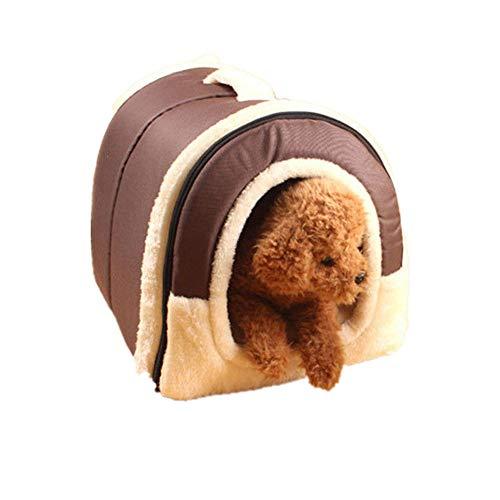 BulzEU morbido caldo nido cane gatto letto pieghevole - Letto cane coniglio Pet nido Grotta casa letto con materasso cuscino rimovibile - Portable Pet gabbia