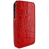 Piel Frama U594COR iMagnum Krokodil Optik Ledertasche mit Magnetverschluss für Apple iPhone 5/5S rot