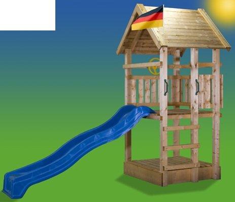 Preisvergleich Produktbild 5.5.5.4.3098: schöner Kletterturm für Kinder - Kinder-Spielturm mit Sandkasten und Rutsche